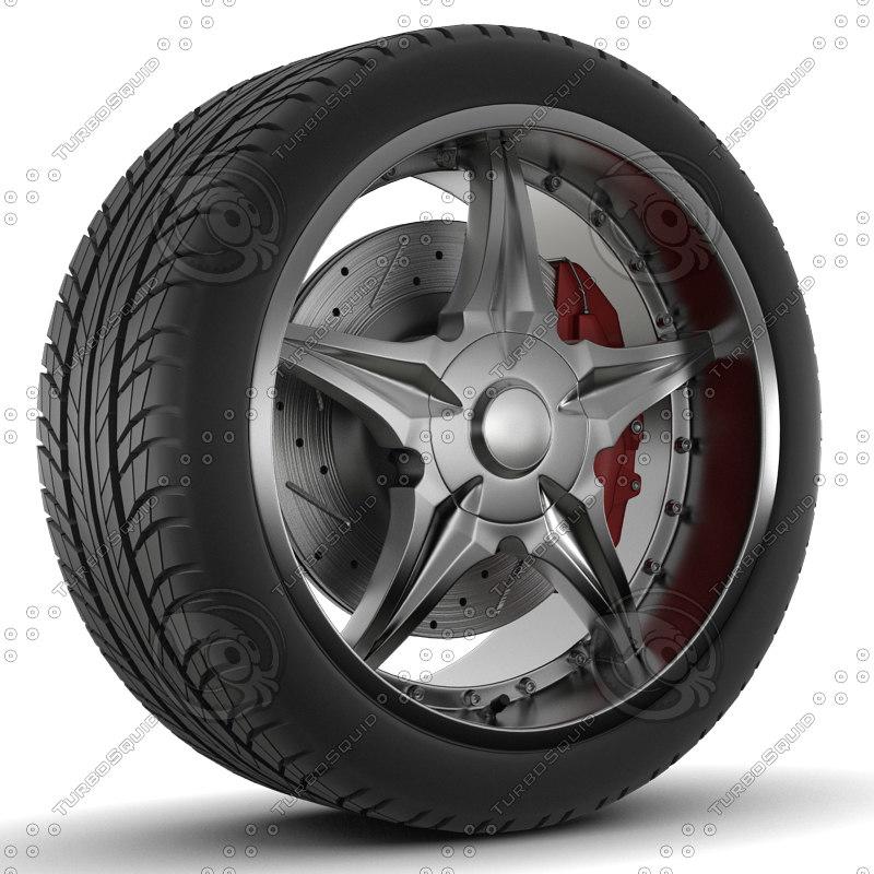 wheel 3d 3ds