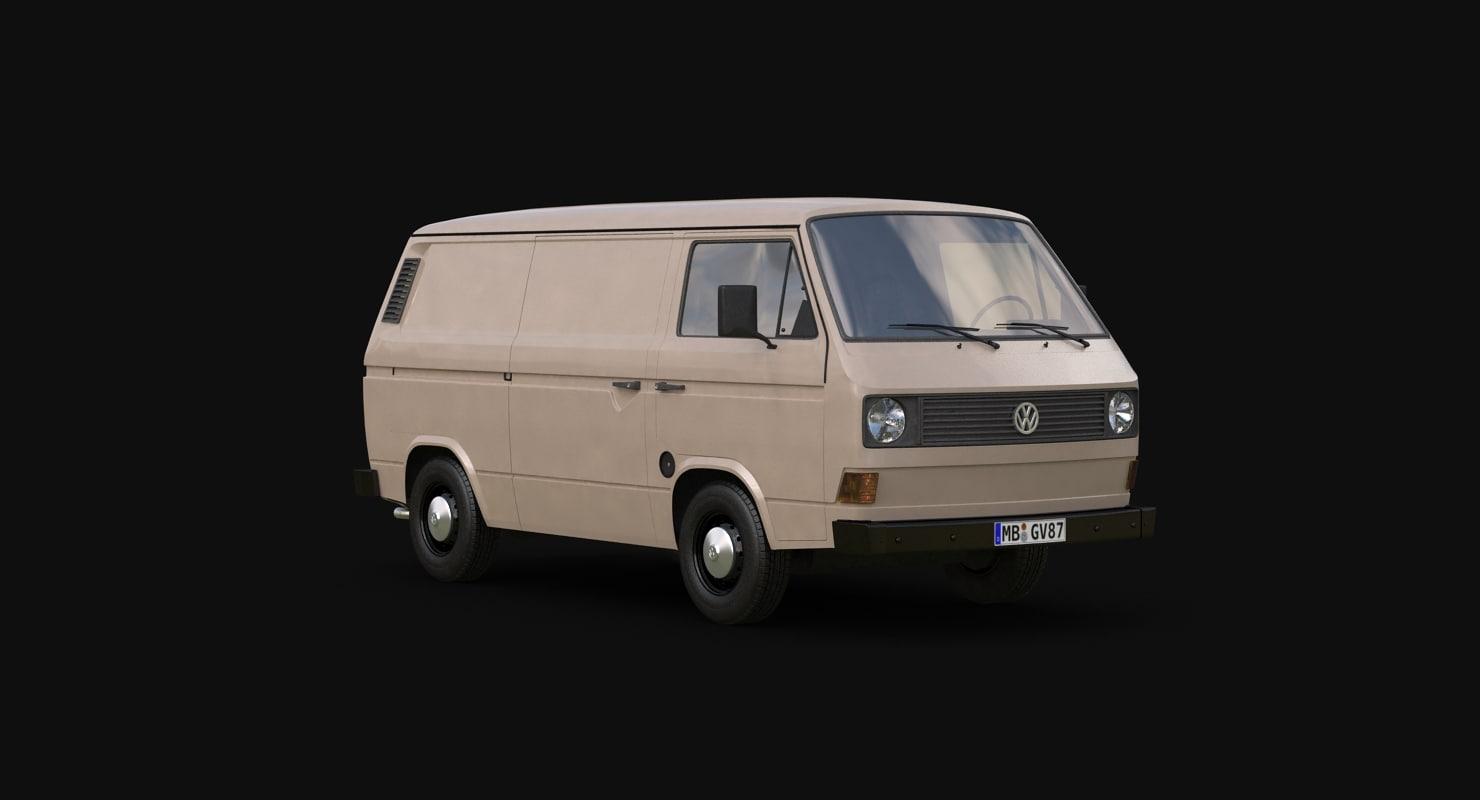 3d t3 volkswagen transporter model. Black Bedroom Furniture Sets. Home Design Ideas