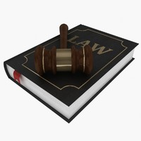 lawyer book gavel 3d 3ds