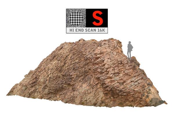 3d model of rock monument scan