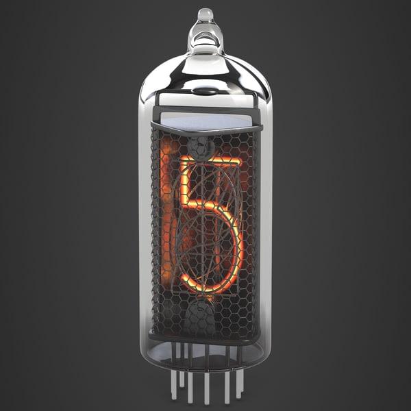 3d nixie tube digits
