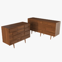 3ds max gio ponti walnut chest