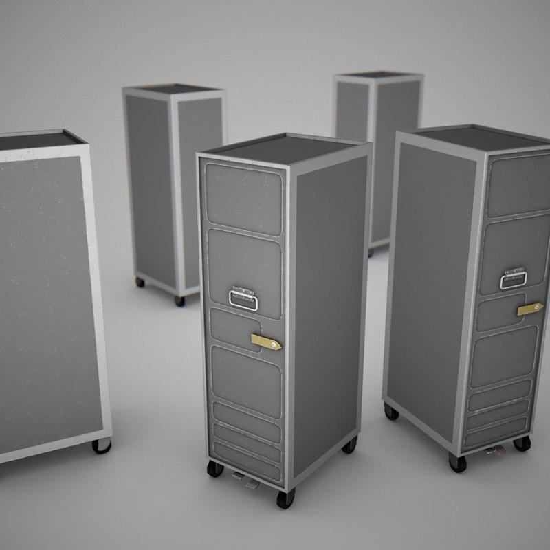 3dsmax aircraft service trolley