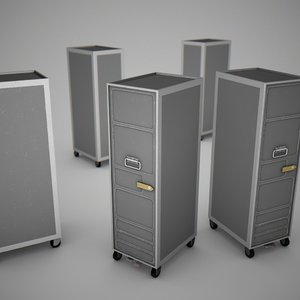 3dsmax aircraft service trolley