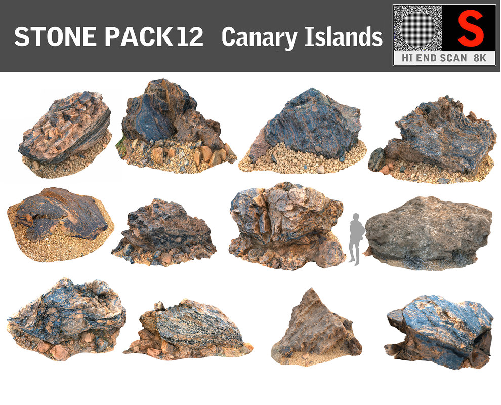 3d stone pack 12 hd
