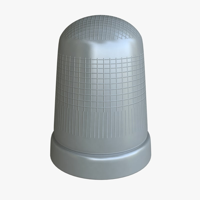 monopoly thimble 3d model