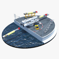 Mark 32 Surface Vessel Torpedo Tubes Diorama