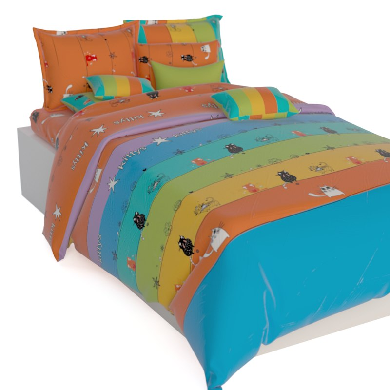 3d children bed linen model