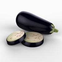 maya realistic eggplant