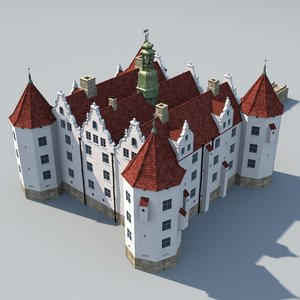 german renaissance watercastle 3d model