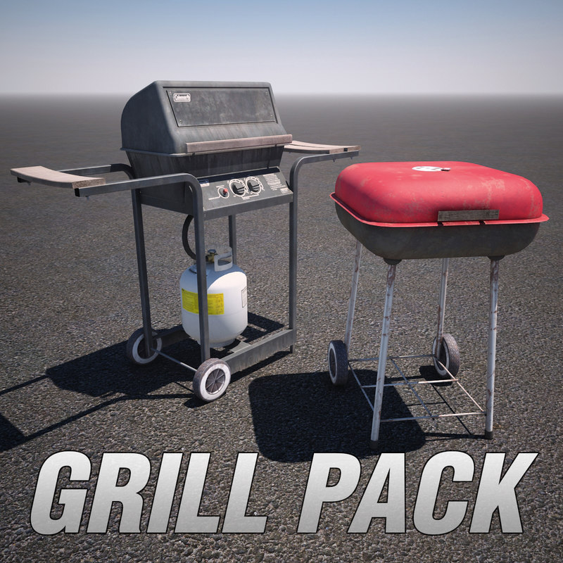 gas grill 3d model