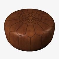 pouf oriental 3d model