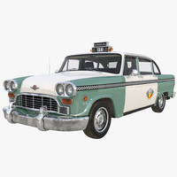 Checker Taxicab 1982 Rigged 3D Model