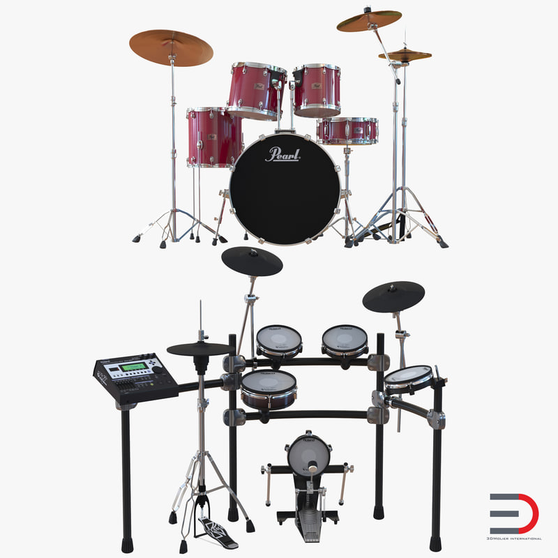 3d model drum kits