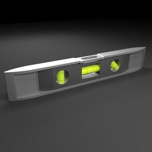 spirit level 3d model