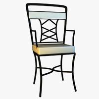 3d metal kitchen chair