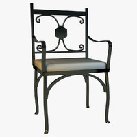 metal kitchen chair 3d model