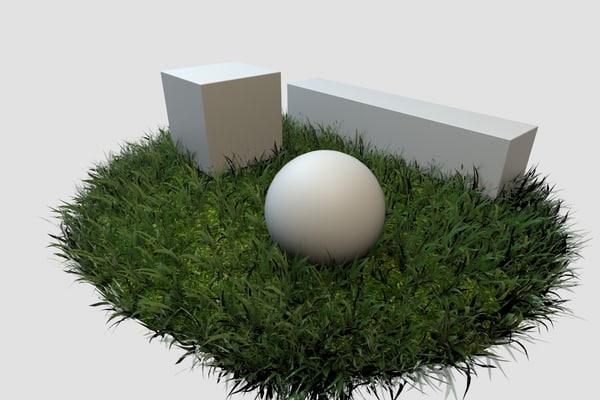 adaptive grass 3d model