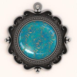 3d torquoise pendant model