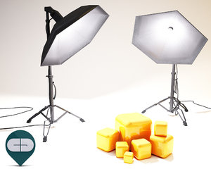 3d softbox model