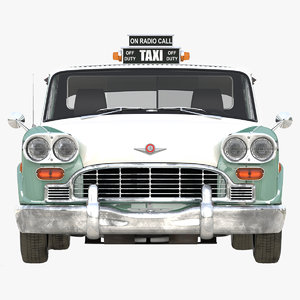 3d checker taxicab 1982 simple