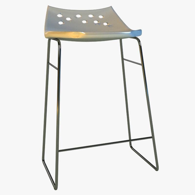 3d max bar stool modern