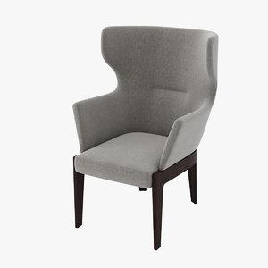 3d model molteni c chelsea armchair