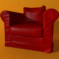 red tissue armchair max free