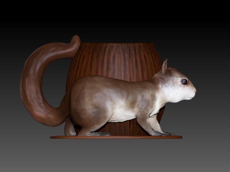 maya squirrel mug
