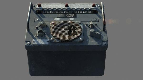 3d model military radio -