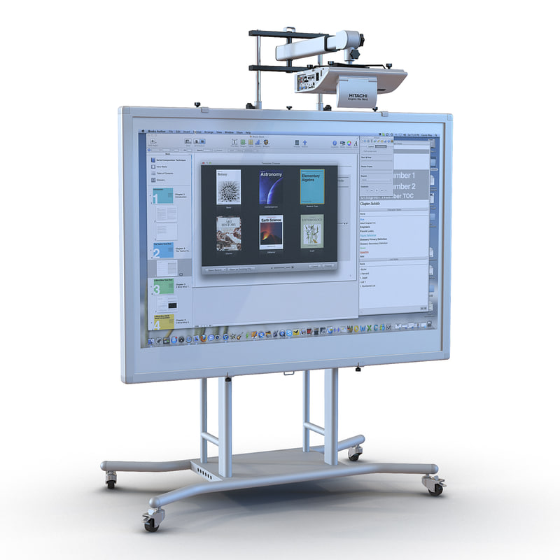c4d interactive whiteboard mobile stand