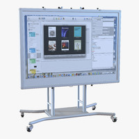 interactive whiteboard mobile stand 3d ma