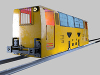 3d mining locomotives