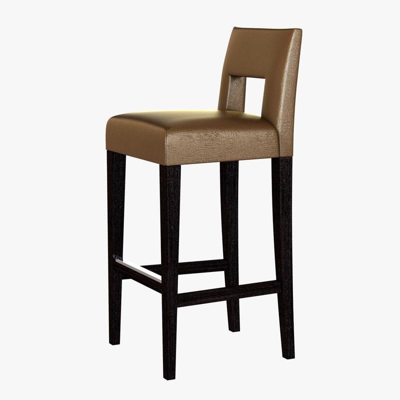 3d model chair hugo stool bar