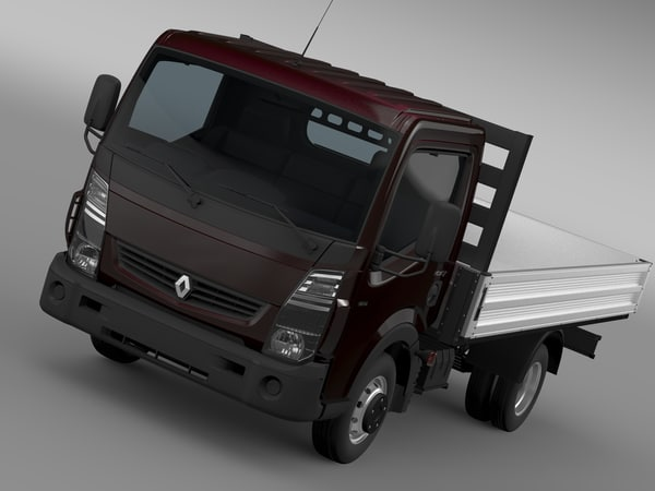 renault maxity tipper 2015 3d 3ds