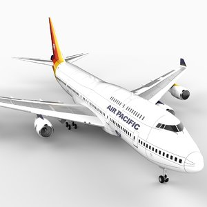 3d model airliner air pacific 747
