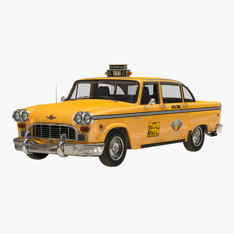 3d model old nyc checker cab