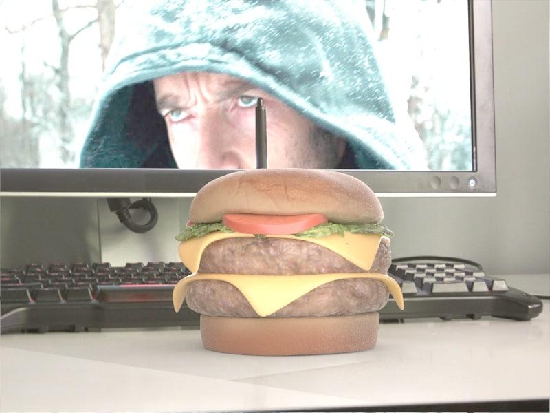 burger hamburger 3d model