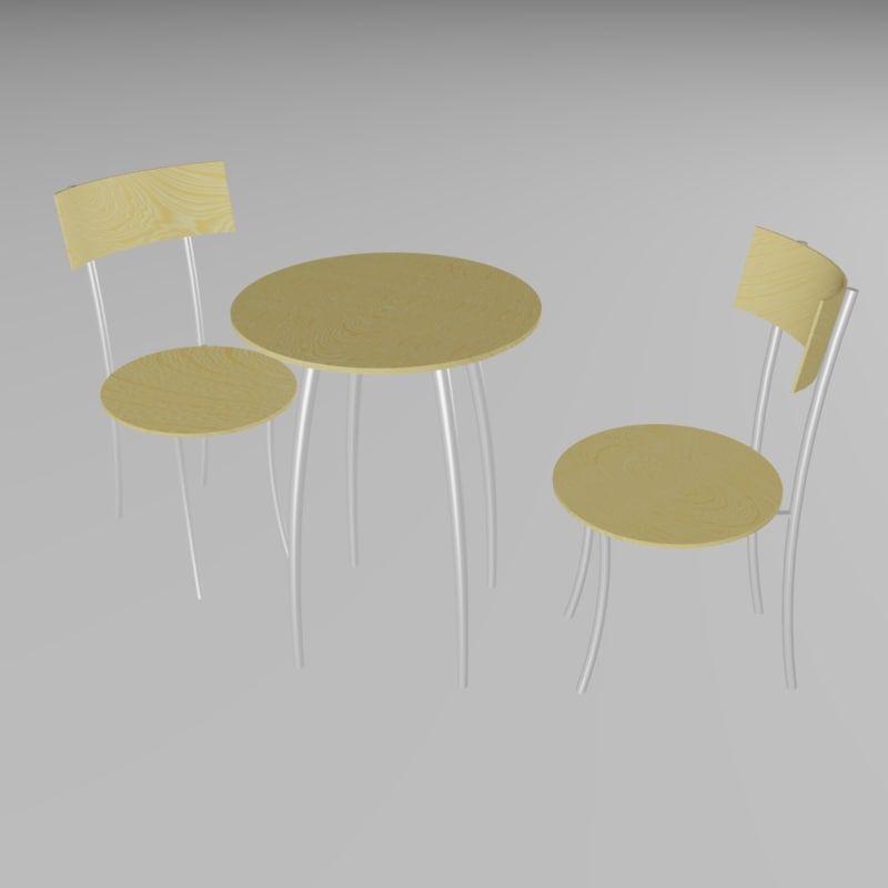 chair table 3d 3ds