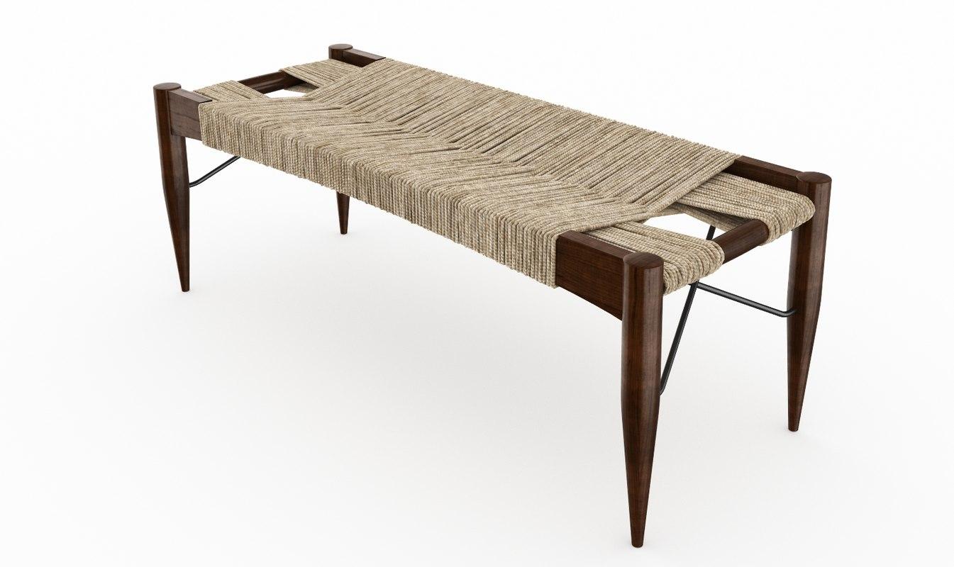 3d model wrap bench