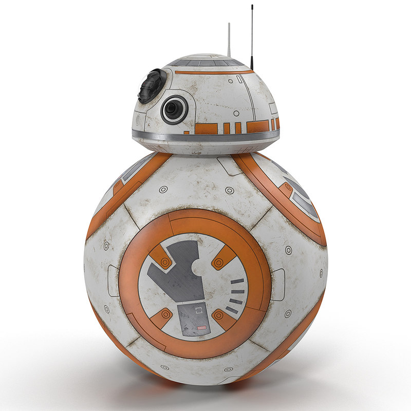 3d model rigged bb-8
