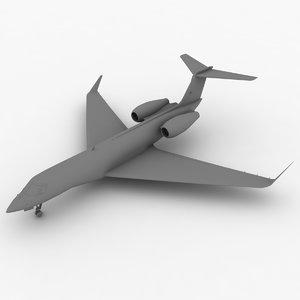 3d model gulfstream g600