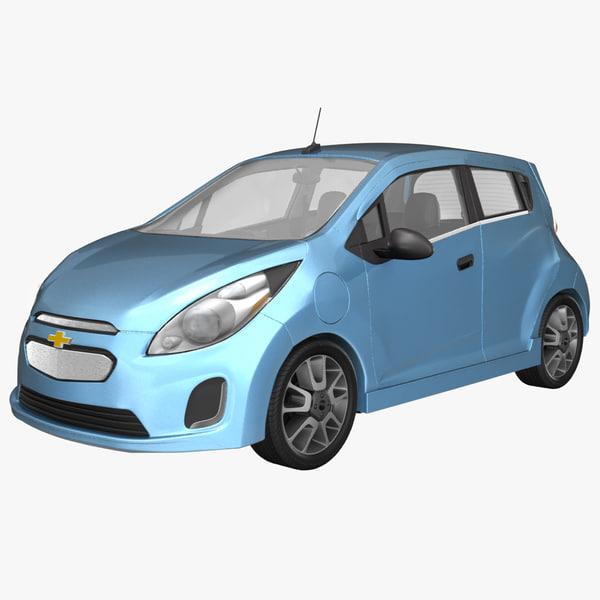 2015 chevy spark vehicle 3d obj