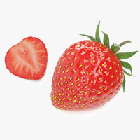 strawberries 3d max