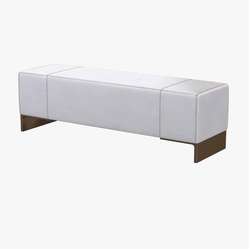 3dsmax bench light metal