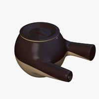 3d clay pot chinese