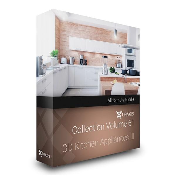 3d model of volume 61 kitchen appliances