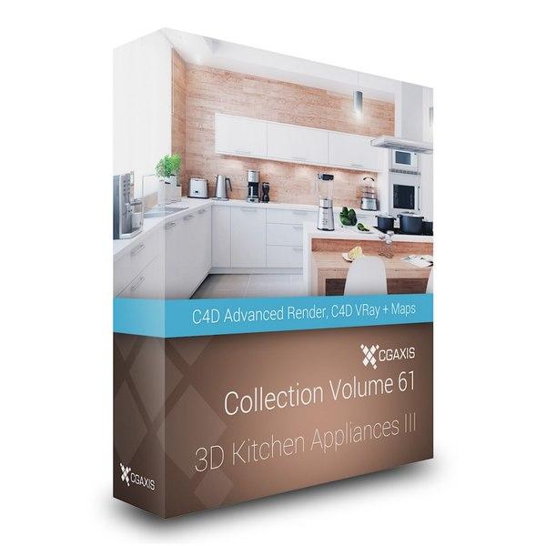 3d model volume 61 kitchen appliances