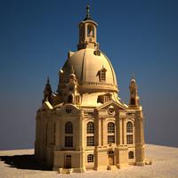 Dresden Frauenkirche (V-Ray,Mental,Corona,Unity3D)