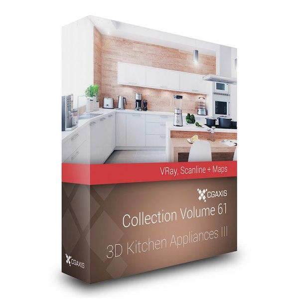 volume 61 kitchen appliances 3d max